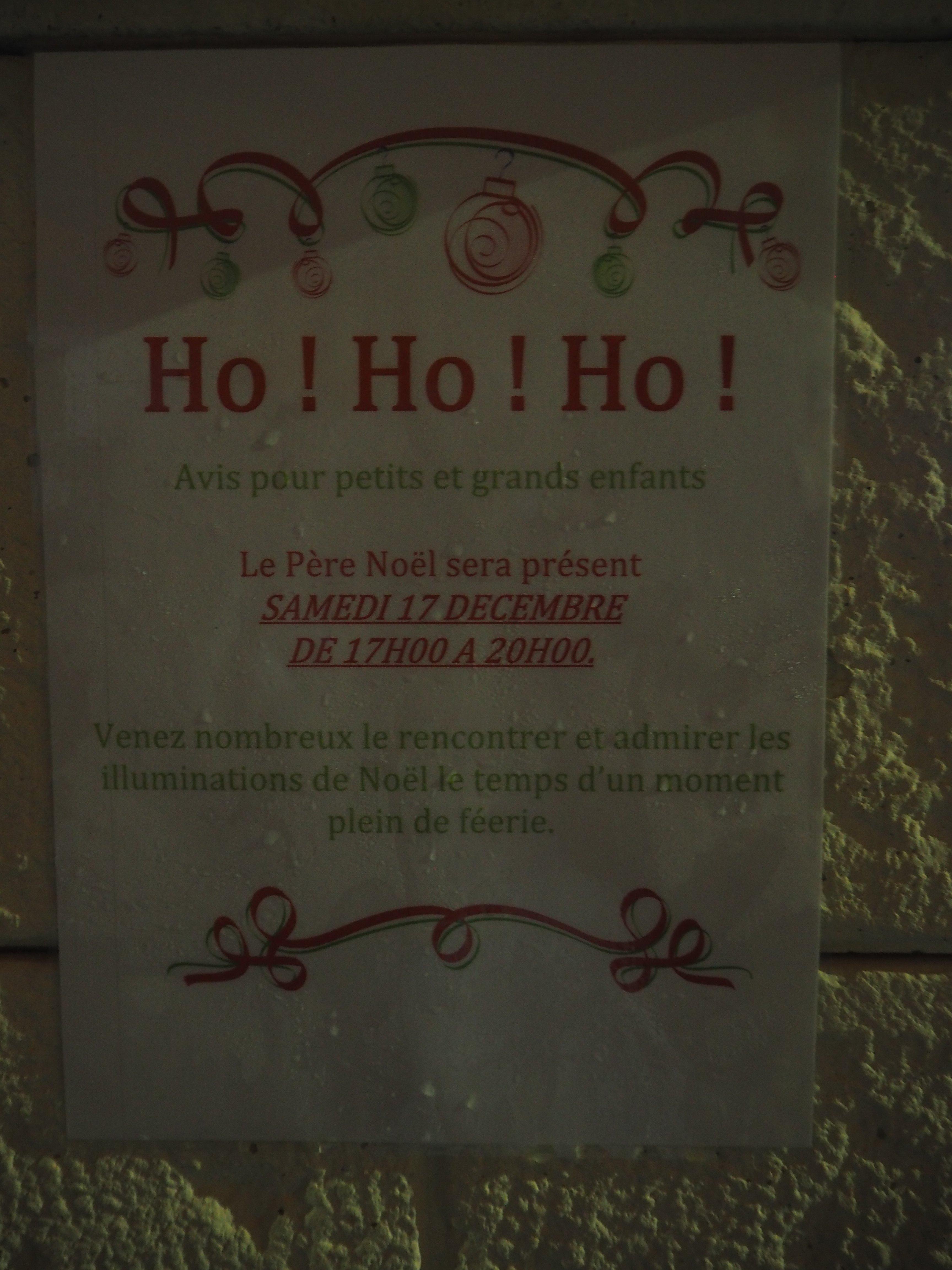 Avis de passage du Père Noël