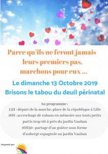 Flyer Marche 13 octobre 2019 Nos tout petits